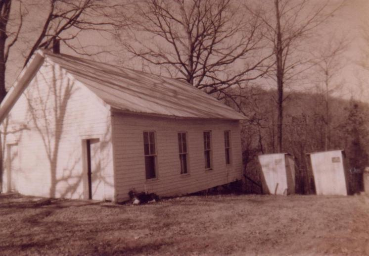 The Deckard School was sold in 1940 for $25, dissassembled and moved to the what are now the shores of Lake Monroe by a mule team.