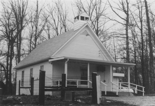 An earlier style of Baptist church, located near Lake Monroe in 1983